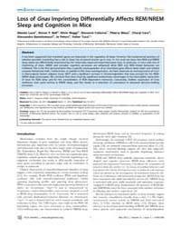 Plos Genetics : Loss of Gnas Imprinting ... by Ferguson-smith, Anne C.