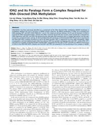 Plos Genetics : Idn2 and Its Paralogs Fo... by Henderson, Ian R.
