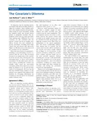 Plos Genetics : the Covariate's Dilemma,... by Visscher, Peter M.