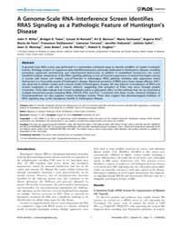 Plos Genetics : a Genome-scale Rna–inter... by Lu, Bingwei