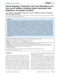 Plos Genetics : Celf4 Regulates Translat... by Barsh, Gregory S.