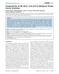 Plos Genetics : Cooperativity of Rb, Brc... by Plon, Sharon E.