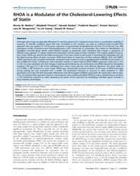 Plos Genetics : Rhoa is a Modulator of t... by Haines, Jonathan L.