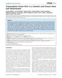 Plos Genetics : Transcription Factor Oct... by Horwitz, Marshall S.