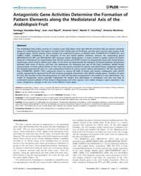 Plos Genetics : Antagonistic Gene Activi... by Qu, Li-jia