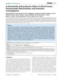 Plos Genetics : a Dominantly Acting Muri... by Scott, Hamish S.