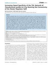 Plos Genetics : Increasing Signal Specif... by Casadesús, Josep