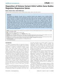 Plos Genetics : Deposition of Histone Va... by Kakutani, Tetsuji