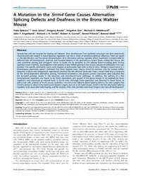 Plos Genetics : a Mutation in the Srrm4 ... by Barsh, Gregory S.