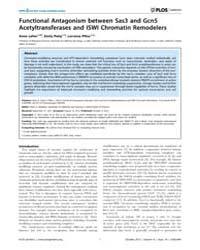 Plos Genetics : Functional Antagonism Be... by Madhani, Hiten D.