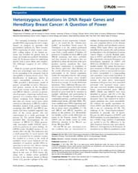 Plos Genetics : Heterozygous Mutations i... by Horwitz, Marshall S.