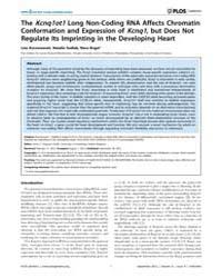 Plos Genetics : the Kcnq1Ot1Long Non-cod... by Ferguson-smith, Anne C.