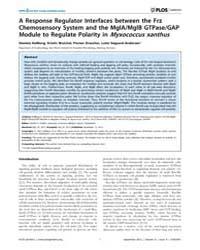 Plos Genetics : a Response Regulator Int... by Viollier, Patrick H.