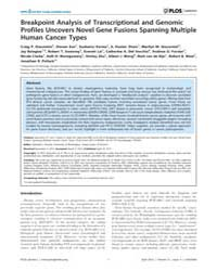 Plos Genetics : Breakpoint Analysis of T... by Horwitz, Marshall S.