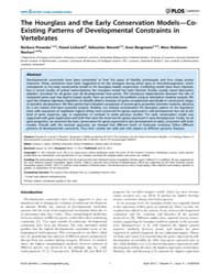 Plos Genetics : the Hourglass and the Ea... by Barsh, Gregory S.