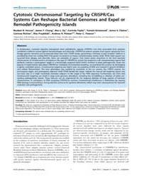 Plos Genetics : Cytotoxic Chromosomal Ta... by Hughes, Diarmaid
