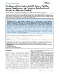 Plos Genetics : the Histone Demethylase ... by Bartolomei, Marisa S.