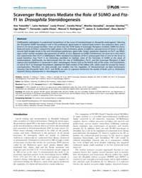 Plos Genetics : Scavenger Receptors Medi... by Rulifson, Eric