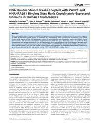 Plos Genetics : Dna Double-strand Breaks... by Gilbert, Nick