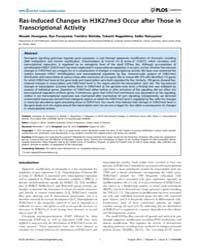 Plos Genetics : Ras-induced Changes in H... by Barsh, Gregory S.