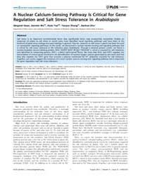 Plos Genetics : a Nuclear Calcium-sensin... by Pardo, Jose M.