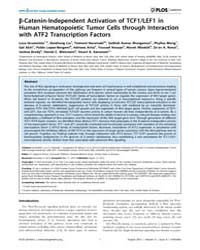 Plos Genetics : Β-catenin-independent Ac... by Grimes, H. Leighton