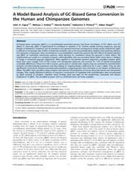 Plos Genetics : a Model-based Analysis o... by Coop, Graham