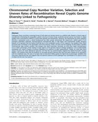 Plos Genetics : Chromosomal Copy Number ... by Heitman, Joseph