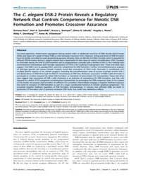 Plos Genetics : the C. Elegans Dsb-2 Pro... by Sekelsky, Jeff