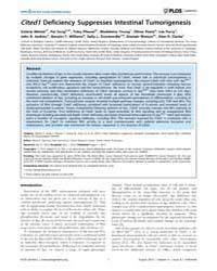 Plos Genetics : Cited1 Deficiency Suppre... by Clurman, Bruce E.