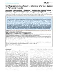 Plos Genetics : Cell Reprogramming Requi... by Schübeler, Dirk