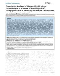 Plos Genetics : Quantitative Analysis of... by Swenberg, James
