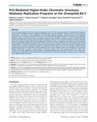Plos Genetics : Pcg-mediated Higher-orde... by Akhtar, Asifa