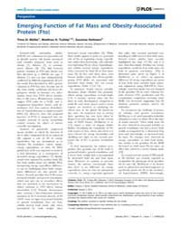 Plos Genetics : Emerging Function of Fat... by Barsh, Gregory S.