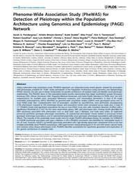 Plos Genetics : Phenome-wide Association... by Gibson, Greg