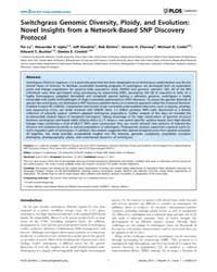 Plos Genetics : Switchgrass Genomic Dive... by Copenhaver, Gregory P.