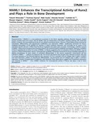 Plos Genetics : Maml1 Enhances the Trans... by Barsh, Gregory S.