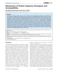 Plos Genetics : Mechanisms of Protein Se... by Weinreich, Daniel M.