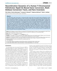 Plos Genetics : Recombination Dynamics o... by Schierup, Mikkel H.