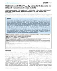 Plos Genetics : Modification of Trnalys ... by Madhani, Hiten D.
