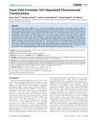 Plos Genetics : Yeast Pol4 Promotes Tel1... by Jinks-robertson, Sue