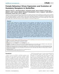 Plos Genetics : Female Behaviour Drives ... by Zhang, Jianzhi
