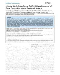 Plos Genetics : Histone Methyltransferas... by Schumacher, Bjö Rn