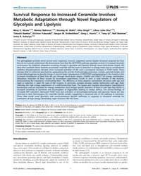 Plos Genetics : Survival Response to Inc... by Ashrafi, Kaveh
