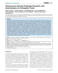 Plos Genetics : Enterococcus Faecalis Pr... by Hughes, Diarmaid