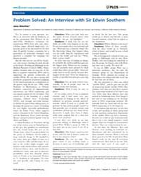 Plos Genetics : Problem Solved ; an Inte... by Jane Gitschier