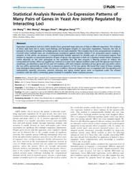 Plos Genetics : Statistical Analysis Rev... by Storey, John D.
