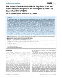 Plos Genetics : Rfx Transcription Factor... by Ashrafi, Kaveh