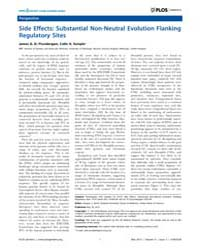 Plos Genetics : Side Effects ; Substanti... by Barsh, Gregory S.