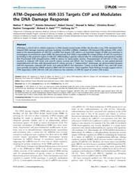 Plos Genetics : Atm–dependent Mir-335 Ta... by Powell, Simon Nicholas